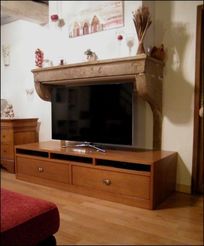 Amenagement Ancienne Cheminee Avec Meuble T V Home Fireplace Home