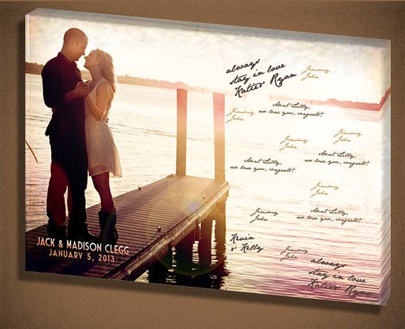 Canvas Guest Book Alternative By Designer Canvases