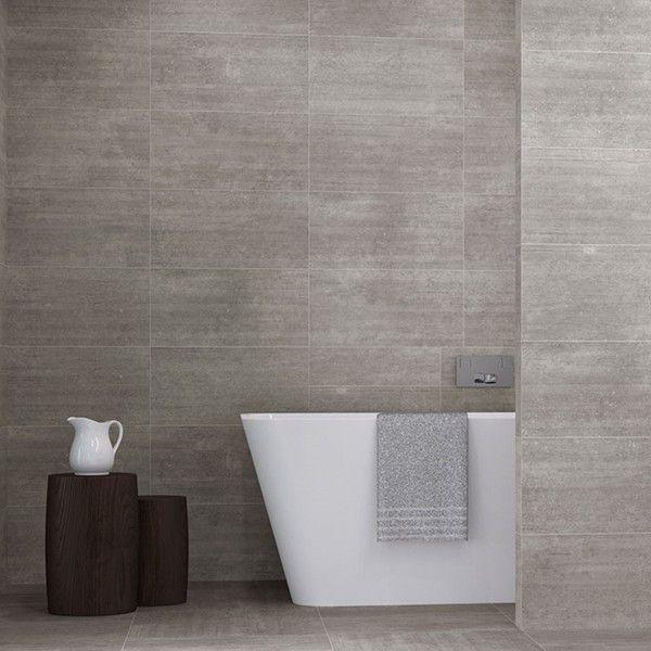 Plytki Szare Do Lazienki Kafelki Betonowe Kolekcja Basis Bathroom Bathtub