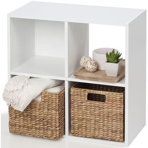 4 Cube Unit White Kmart Cube Storage Decor Cube Storage Cube Storage Baskets