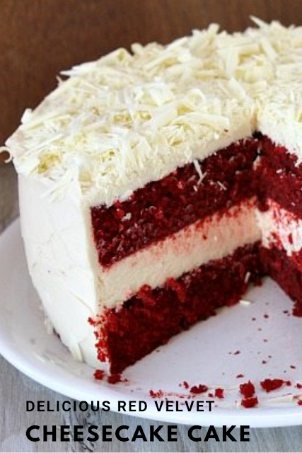Delicious Red Velvet Cheesecake Cake World Foods Recipes Cake Cakes Recipes Chocolate Cho Cheesecake Cake Red Velvet Cheesecake Cake Best Cookie Recipes
