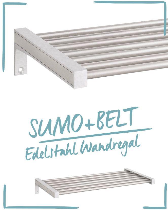 Edelstahl Wandregal - ideal fürs Bad Regale für das Badezimmer