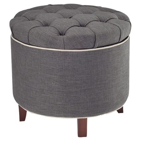I pinned this Safavieh Amelia Tufted Storage Ottoman from the Bedroom on a Budget event at Joss & Main!