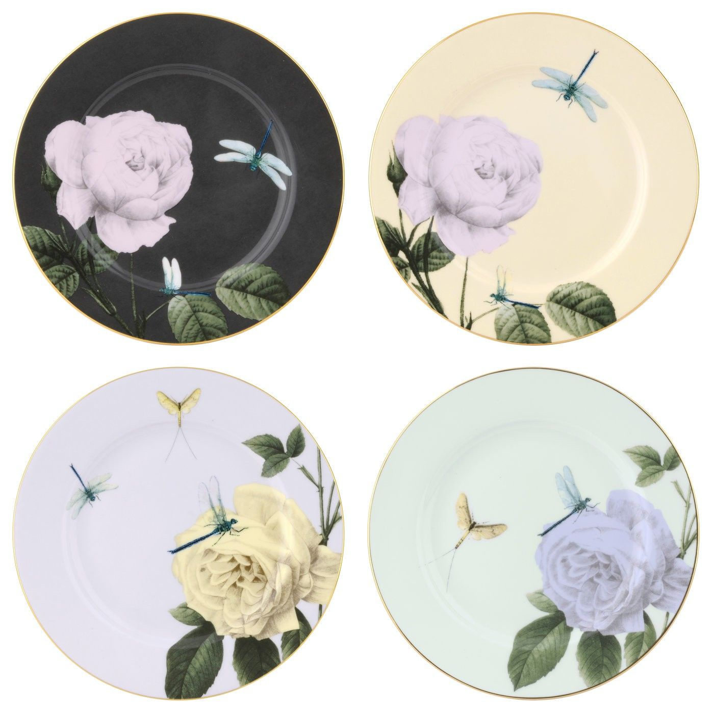 Ted Baker Portmeirion Rosie Lee Assorted Salad Plate Set of 4 ...