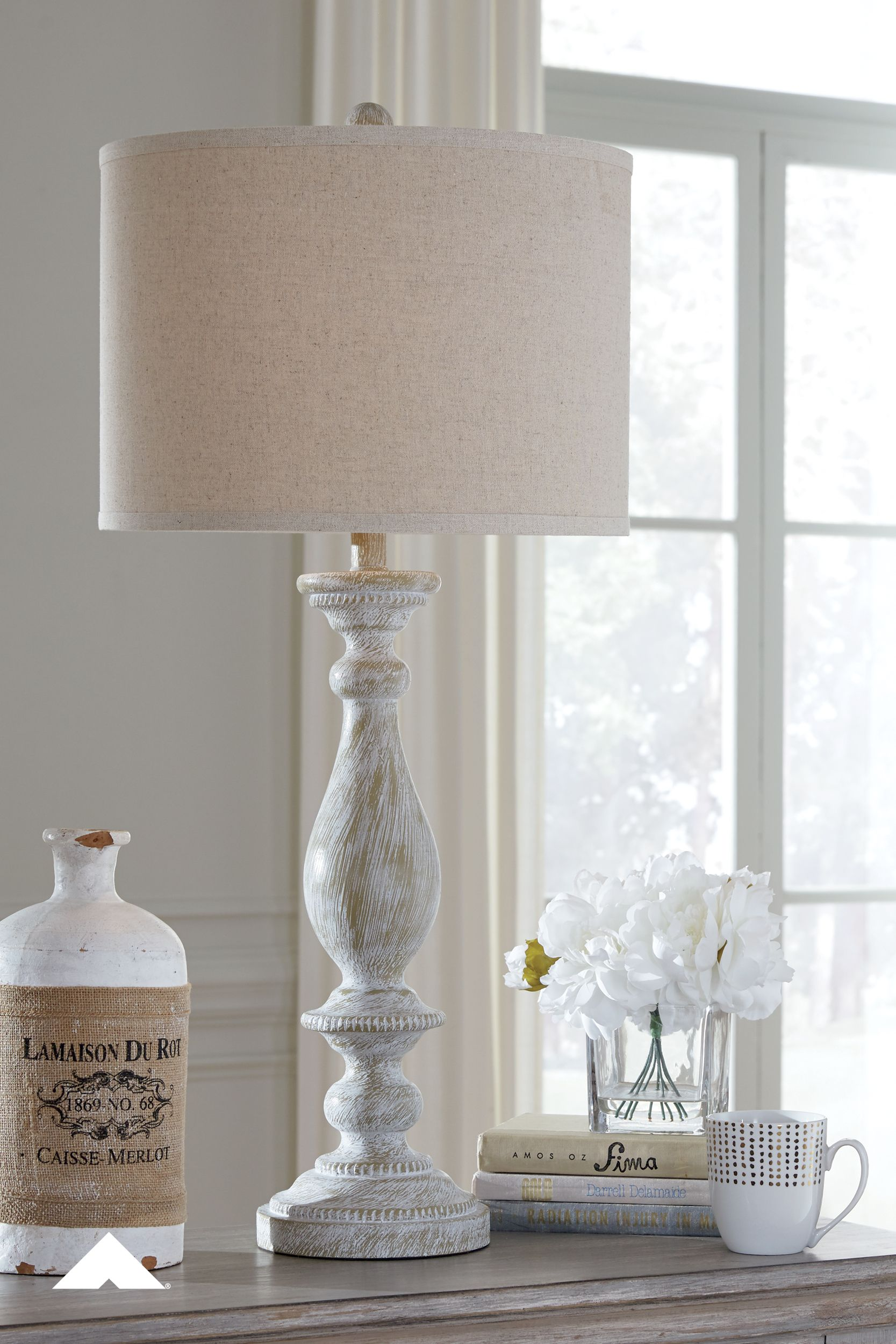 Bernadate Whitewash Table Lamp By Ashley Furniture Industries With Its Whitewash Finish This Table Lamp I In 2020 Table Lamp Sets Farmhouse Lamps Vintage Table Lamp