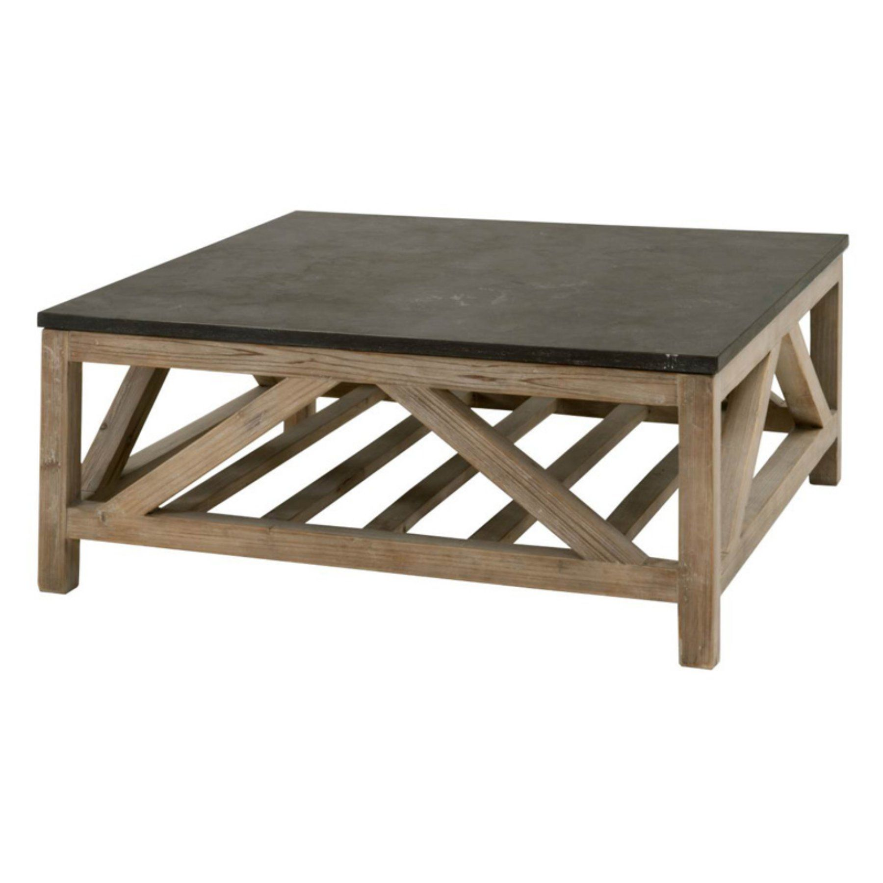 Orient Express Furniture Blue Stone Square Coffee Table 8022sq