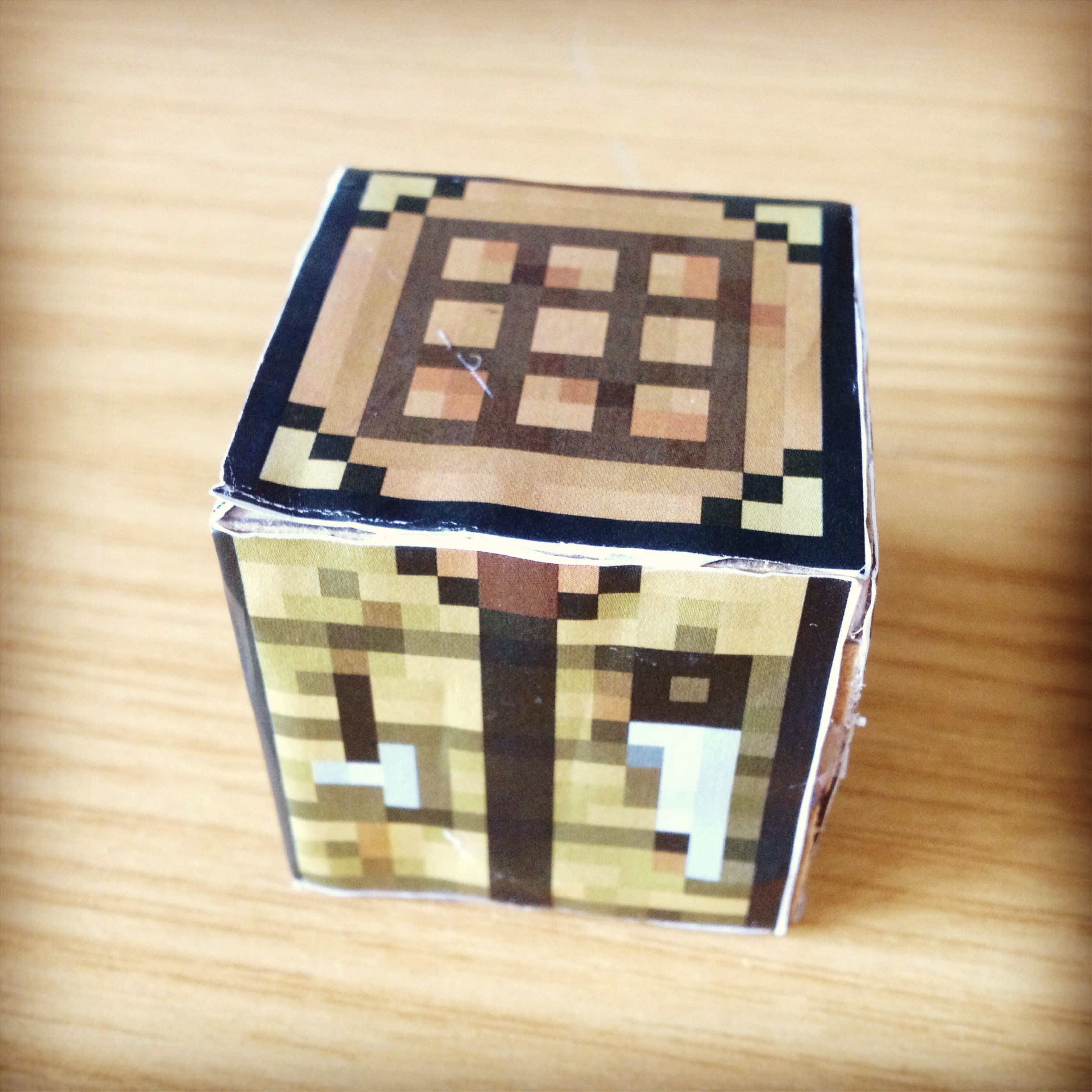I Made A Minecraft Crafting Table In Dt Craft Table Decorative Boxes Crafts