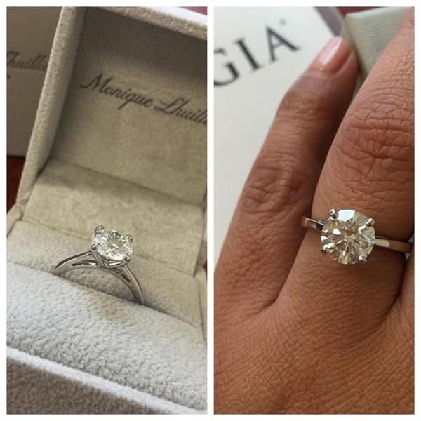 Monique Lhuillier Cathedral Solitaire Engagement Ring In Platinum