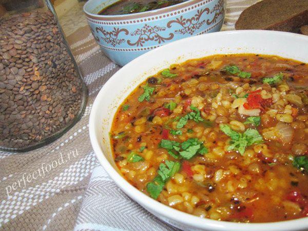 Турецкий суп с чечевицей - рецепт