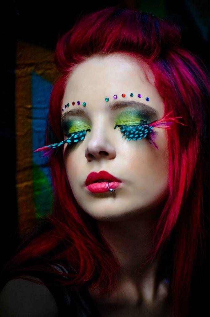 Feather False Eyelashes Exotic Eyelashes Pinterest Makeup