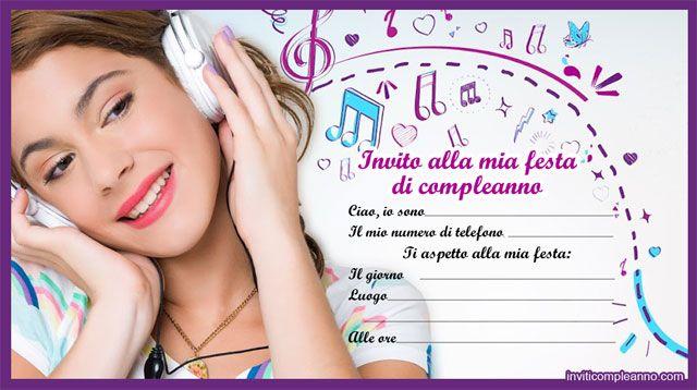 Biglietti Auguri Compleanno Di Violetta.Inviti Di Compleanno Violetta Inviti Di Compleanno Inviti