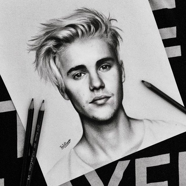 Instagram Photo By Babi Ramos Nov 16 2015 At 7 18pm Utc Celebrity Drawings Justin Bieber Sketch Celebrity Art