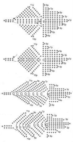Crochet leaves diagram google search crochet flowers 3 crochet leaves diagram google search ccuart Images