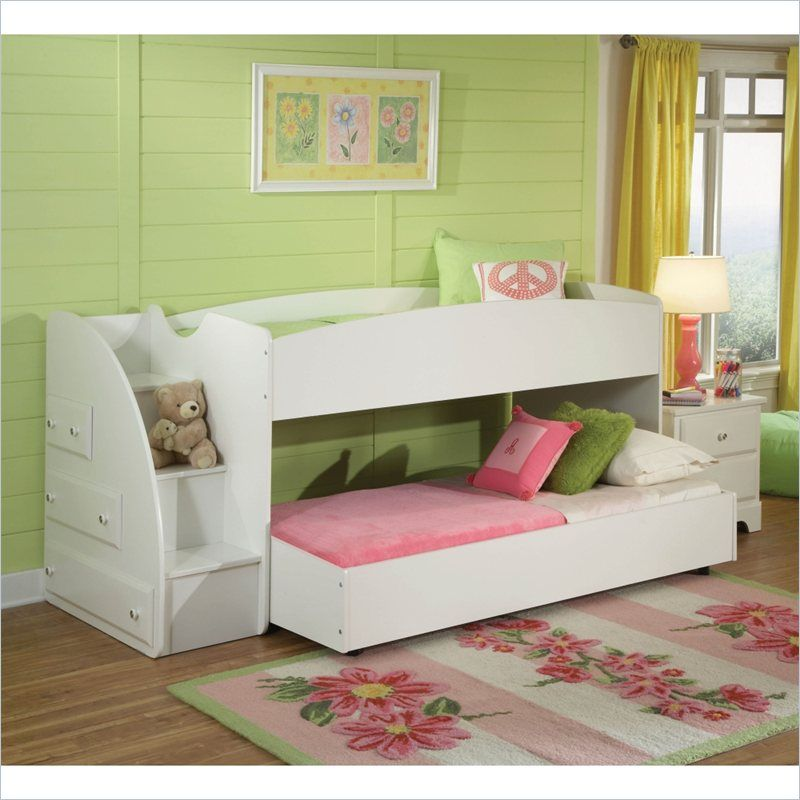 Cheap Loft Apartments: Standard Furniture Reagan Loft Bed And Trundle In White