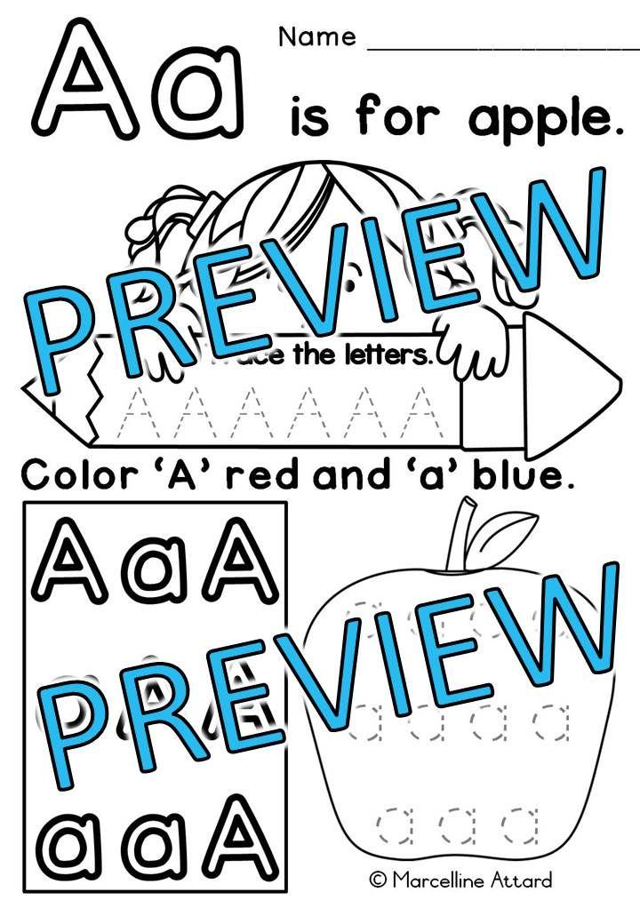 preschool alphabet worksheets a z kindergarten alphabet tracing worksheets teachers pay. Black Bedroom Furniture Sets. Home Design Ideas