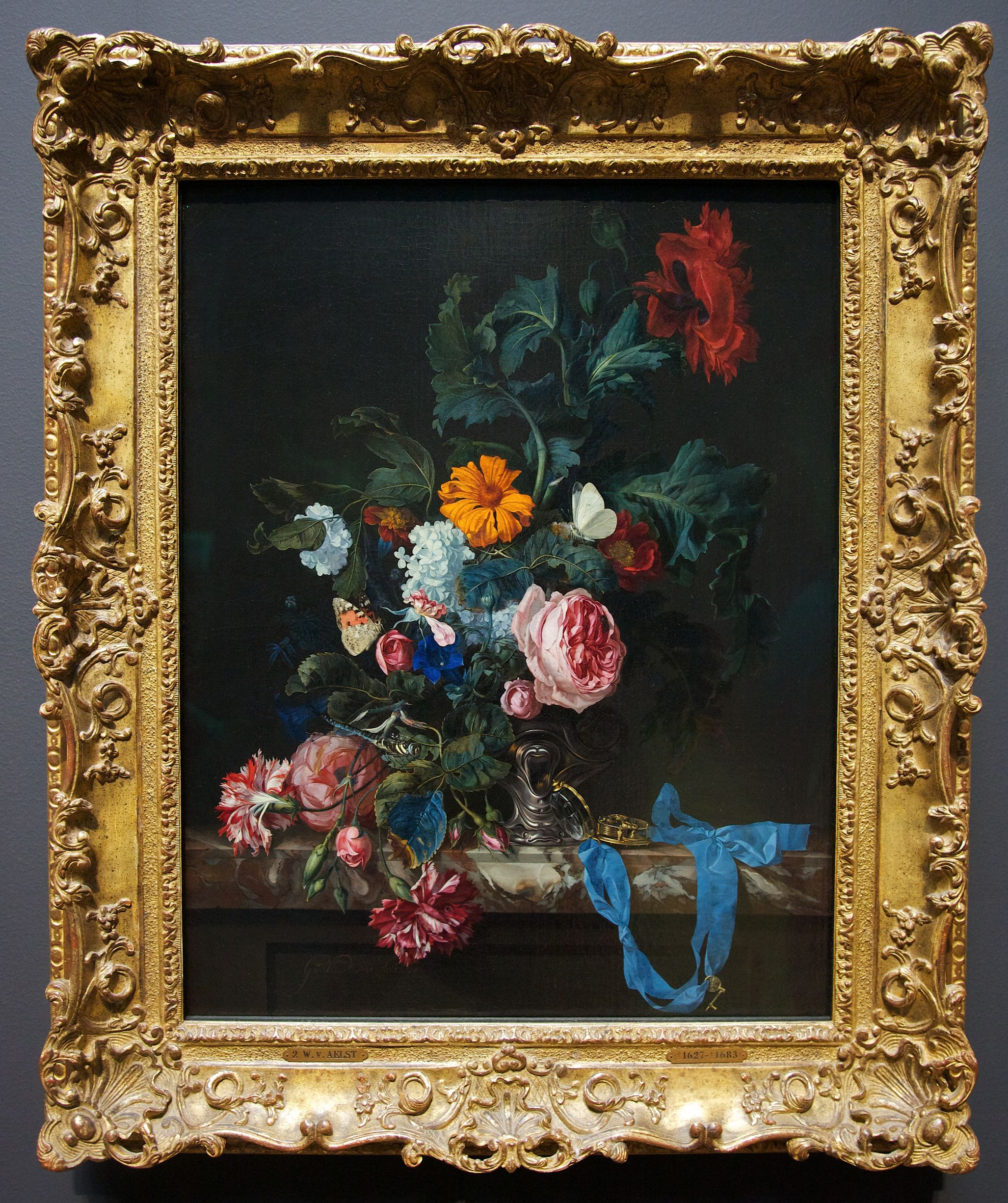 Willem van aelst floral still life with a pocket watch 1663 willem van aelst floral still life with a pocket watch 1663 jeuxipadfo Image collections
