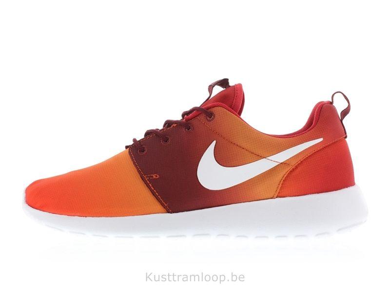 la meilleure attitude 842dc b4d85 Nike Roshe Run Imprimer Team Orange / Blanc-Bright Mandarin ...