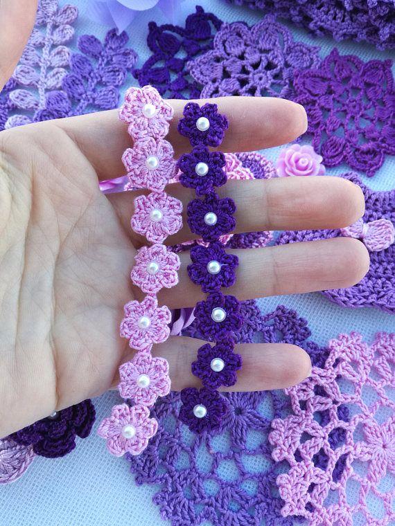 Crochet Pattern Crochet Small Flowers Crochet Flower Trim Crochet