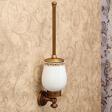 Antique Wunderschöne Bad-Accessoires inklusive WC-Bürste und WC-Bürste Cup – EUR € 45.37
