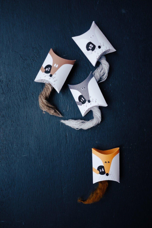 CALENDRIER DE L'AVENT - FOX FAMILY à imprimer #calendrierdelaventfaitmaisonenfant