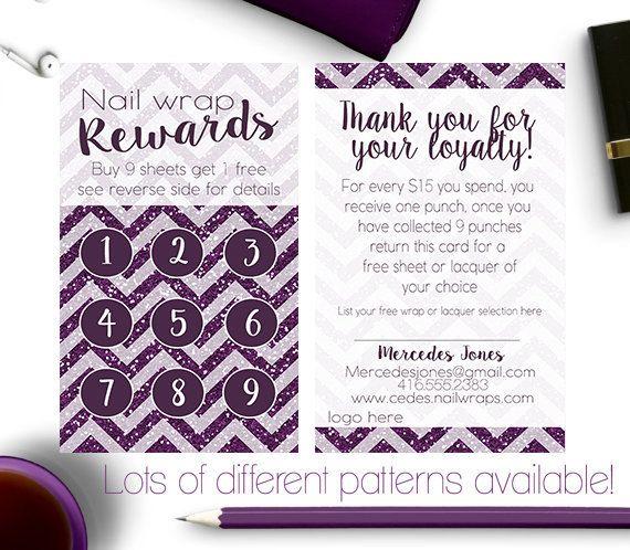 nail wrap rewards card business card younique scentsy makeup wraps