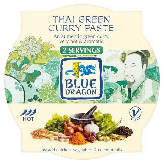 Blue Dragon Thai Green Paste Pot 50g Green Curry Thai