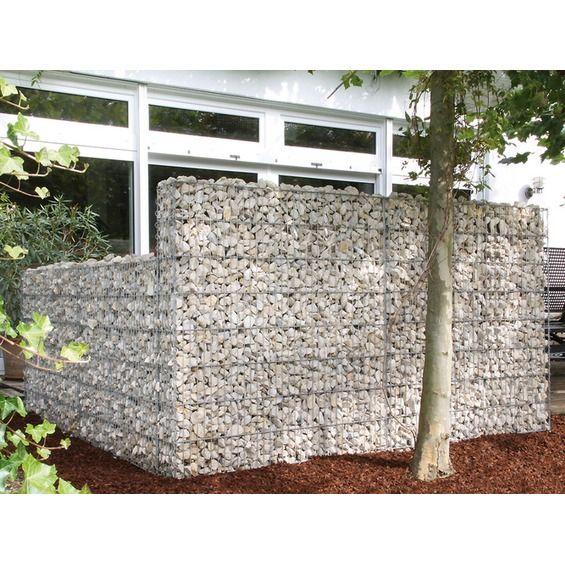 Gabionen Mauer Limes 10 Cm X 180 Cm Mit Kalkstein Fulllung Direkt Im Obi Online Shop Kaufen Gabionen Mauer Gabionen Mauer