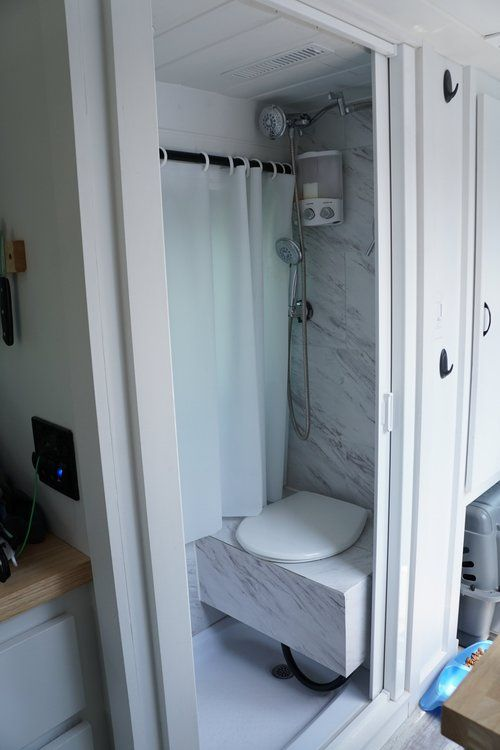 Sprinter Van Conversion Bathroom Shower Toilet 40 Hours Of Freedom