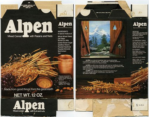 Alpen Cereal Box 1973 Vintage Packaging How To Roast