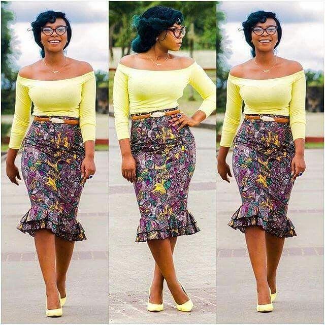 Double peplum skirt ~African fashion, Ankara, kitenge ...