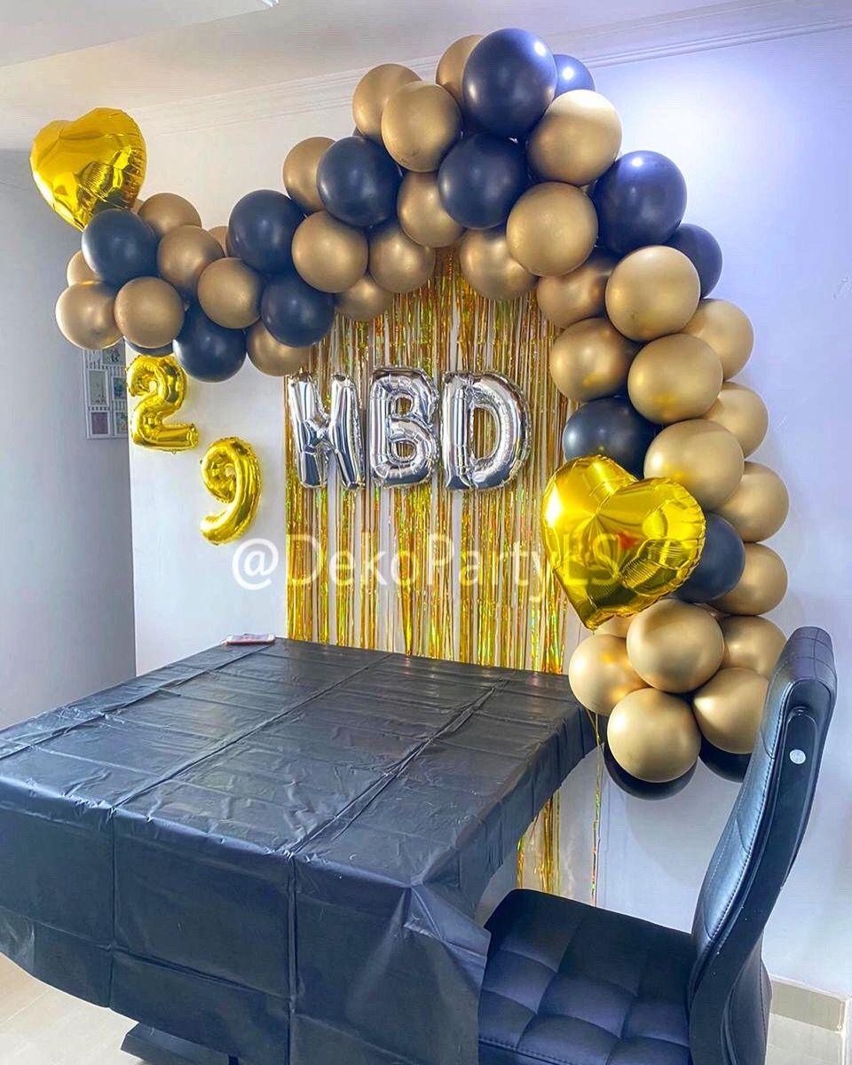 23++ Decoracion de fiesta negro con dorado trends
