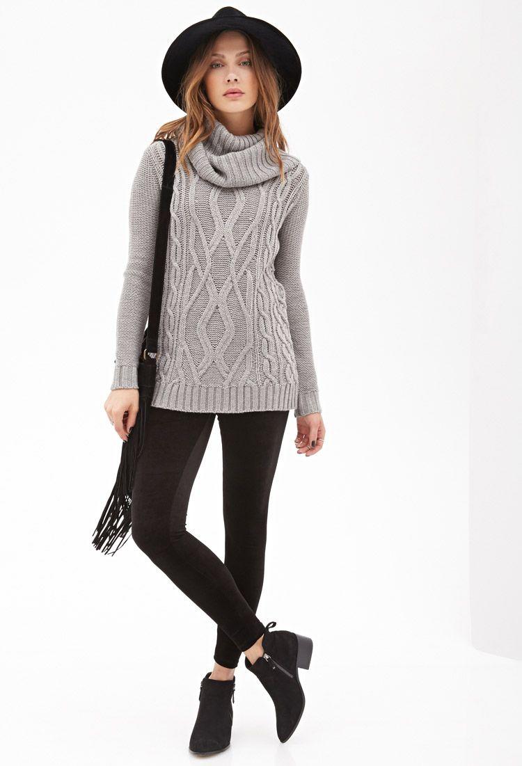 Cowl Neck Fisherman Sweater | FOREVER21 - 2055880077 | Estilo ...