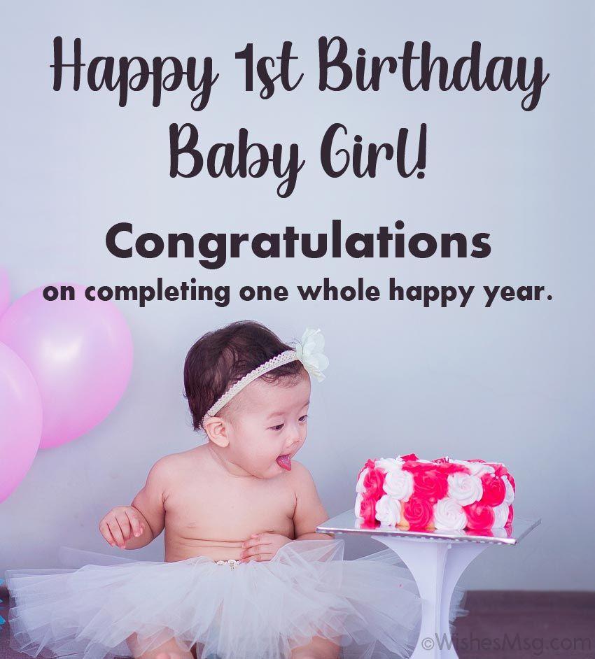 Baby Girl First Birthday Wishes First Birthday Wishes Birthday Wishes Girl 1st Birthday Wishes