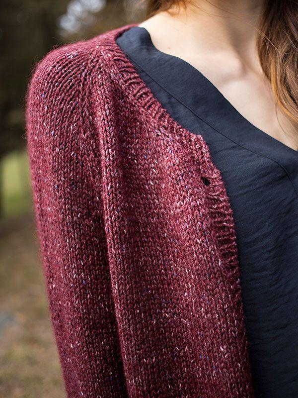 Knitting Top Down Cardigan Pattern : Elegantly simple this top down raglan cardigan is sure to