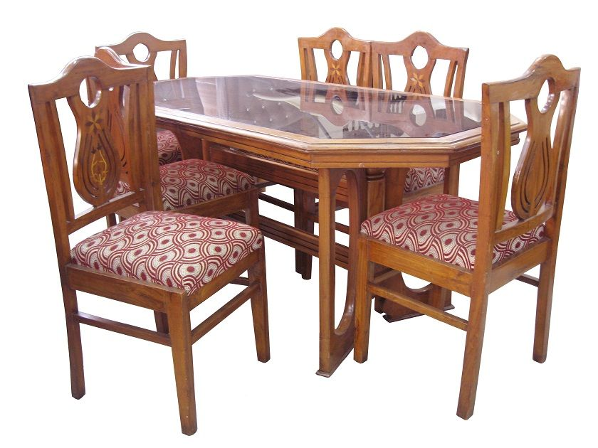For Sale Teak Wood Dining Table Along With 6 Chair More Information Please Visit