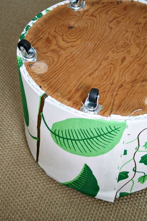 Reupholstering An Ottoman In Delicious Fabric Diy