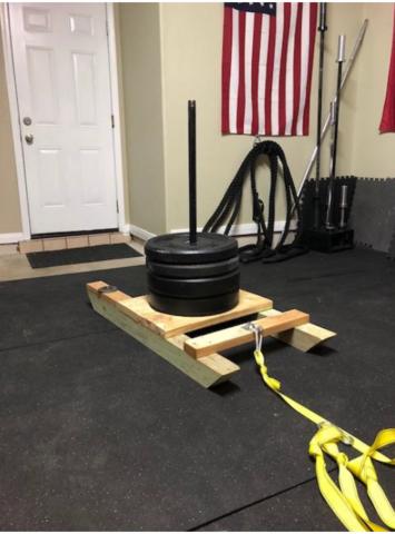 diy weight sled home build  diy home gym homemade gym