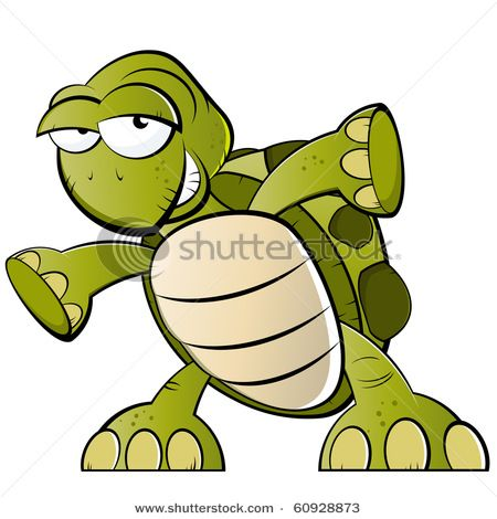 Turtle Cartoon Characters With Glasses Reptile Cartoon Turtle