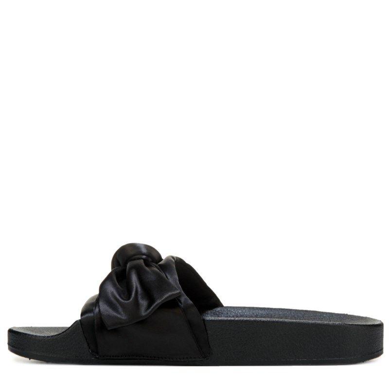 720ac1694b75 Steve Madden Women s Silky Slide Sandals (Black Satin) - 10.0 M