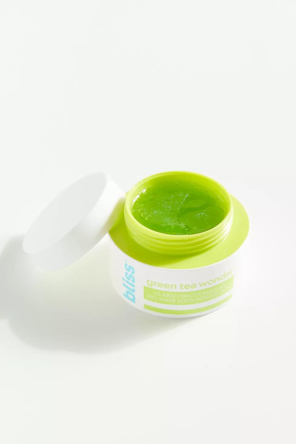 Photo of Bliss Green Tea Wonder Mask Green Tea greentea leaf