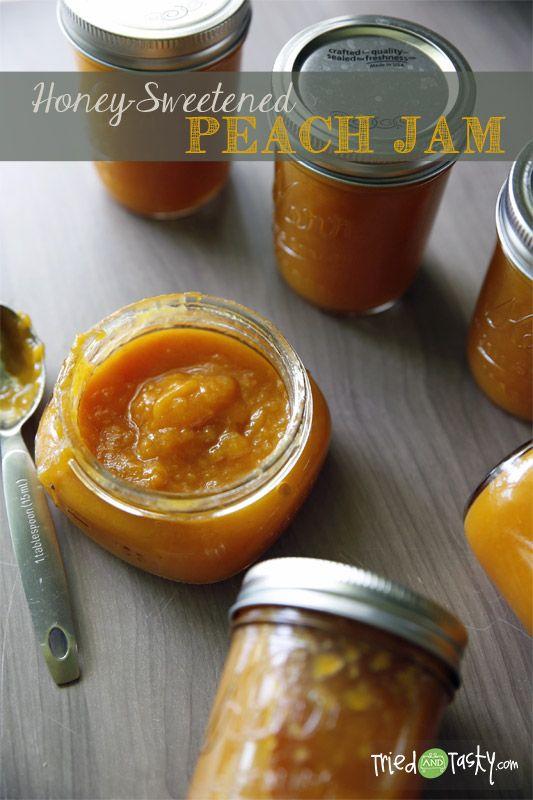 Honey Sweetened Peach Jam Recipe Tried And Tasty