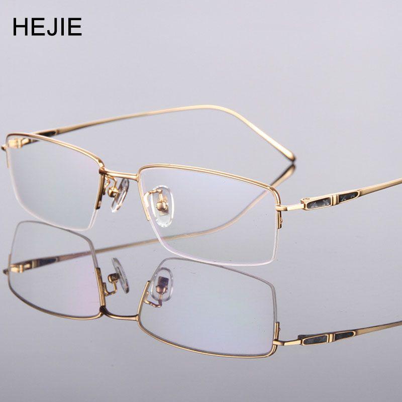 e94954e990ee High Quality Men Pure Titanium Eyeglasses Frames Brand Myopia Glasses Frame  For Male Size 55-