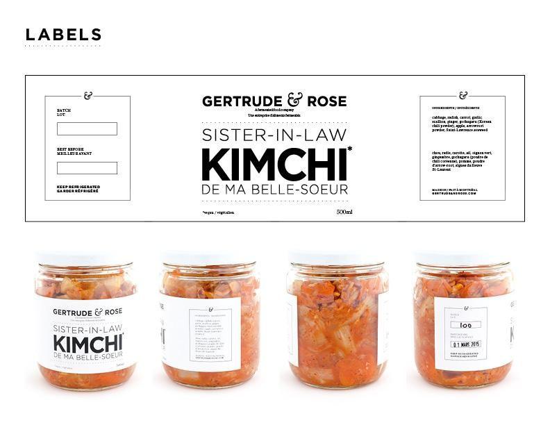 Gertrude Rose Fermented Foods Creative Packaging Design Jar Packaging Logo Packaging Design