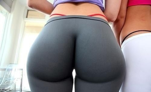 thong pants tight Big in yoga ass