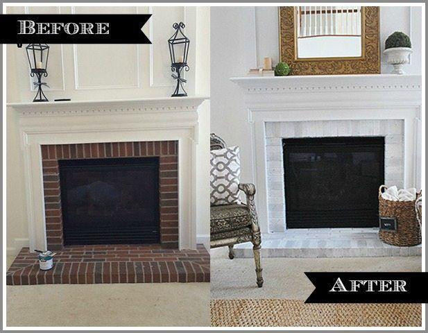 DIY Fireplace Makeover via Mohawk Creative Home | Furniture ideas ...