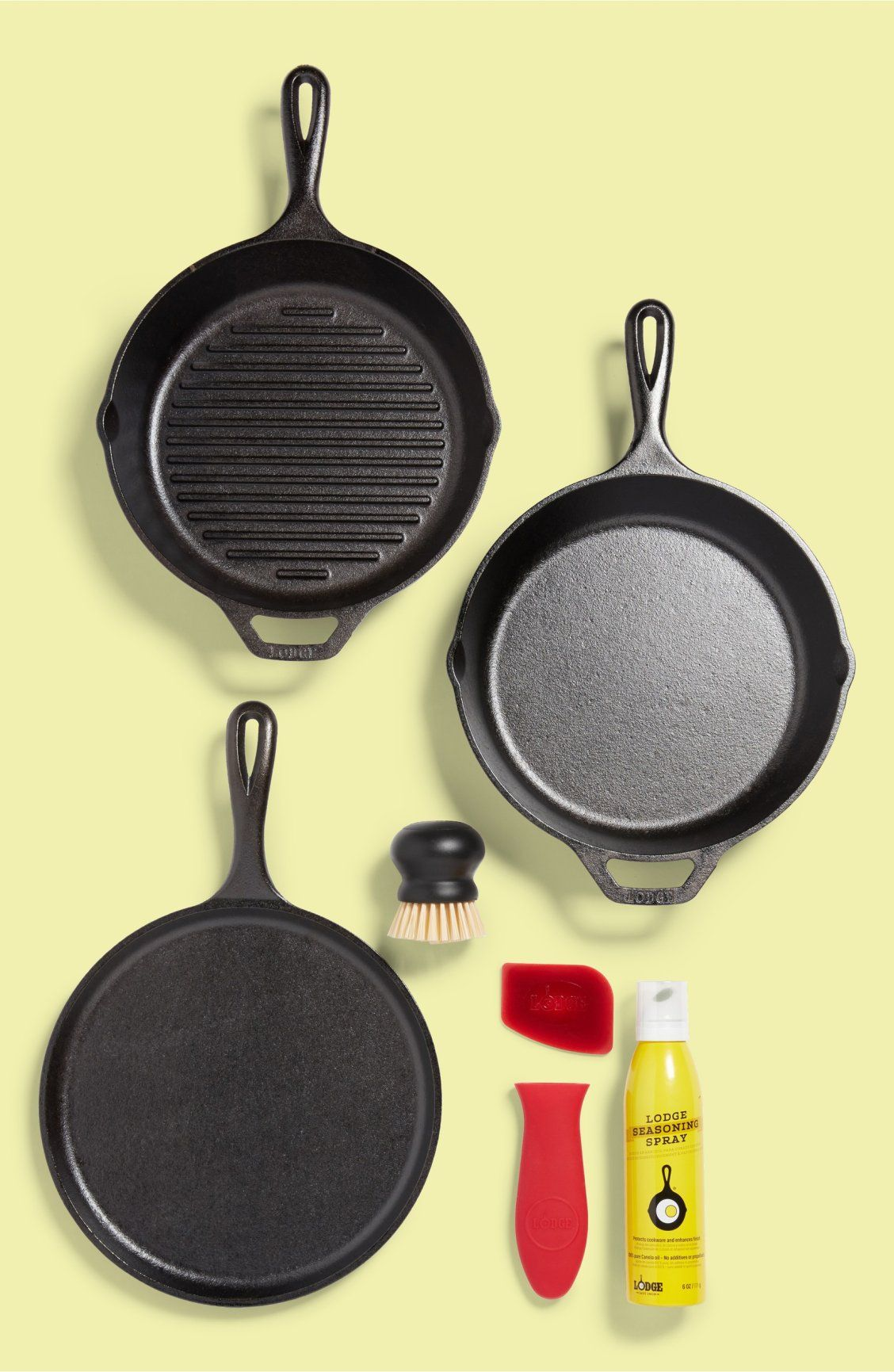 Lodge Gourmet Essentials Cast Iron Cookware Set Induction