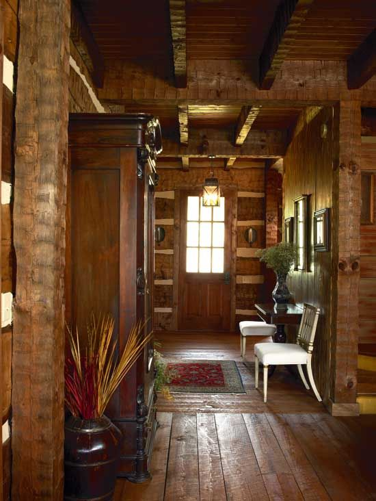 Hunting Cabin Interior Do It Yourself Hunting Cabins: An Old Look On A New Log Home