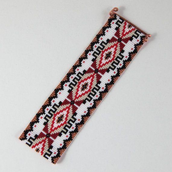 Espanola Bead Loom Cuff Bracelet Native American Style Beaded ...