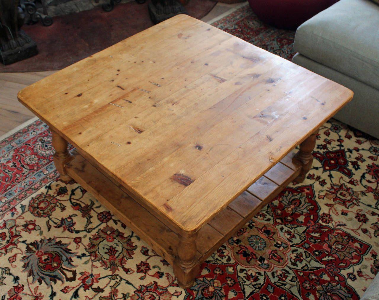 vintage english pine coffee table