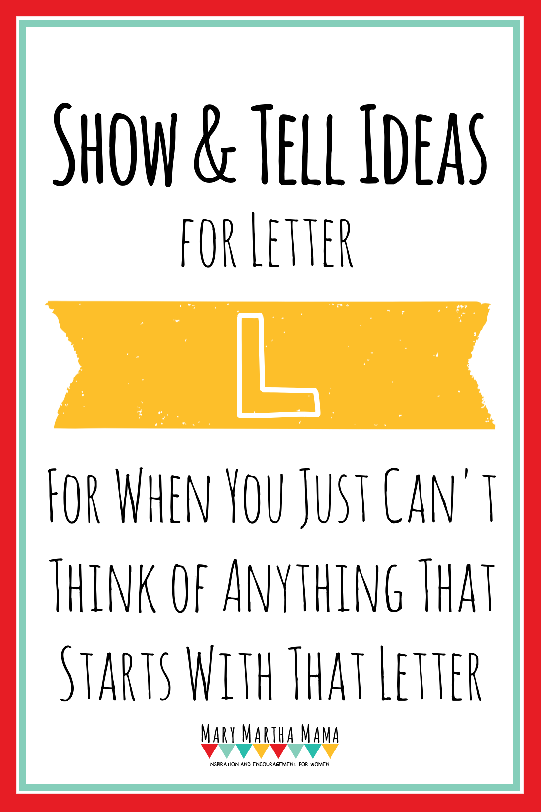 Show and tell letter l ideas for letter of the week show